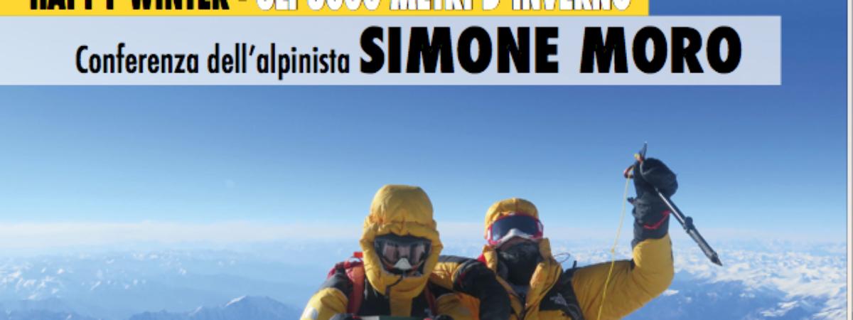 Conferenza dell'alpinista Simone Moro